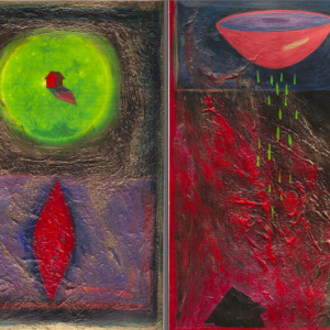 """Finding Home #16 11"""" x 15"""" Gouache on paper 1998 :: SOLD"""