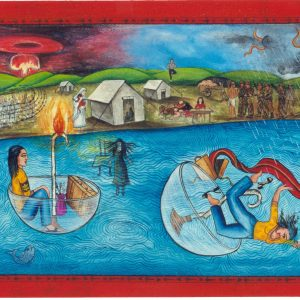 "Finding Home #37 ""The Journey"" 14"" x 40"" Gouache on paper 2000 :: SOLD"