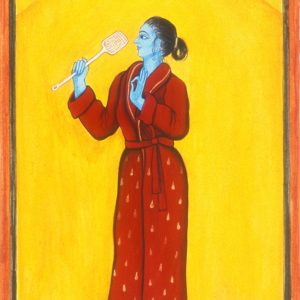 """Finding Home #41 """"Yogini"""" 9"""" x 5"""" Gouache on paper 2000"""