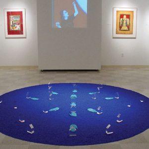 Mandala Blue #1 10' diameter Mixed Media 2004