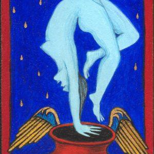 "Fereshtini #1 9"" x 11"" Gouache on museum board 2007 :: SOLD"