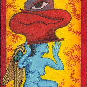 "Fereshtini #2 9"" x 11"" Gouache on museum board 2007 :: SOLD"