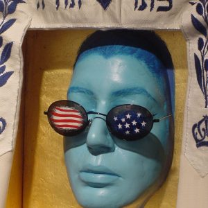 My America, Blue face, Mixed Media 2001