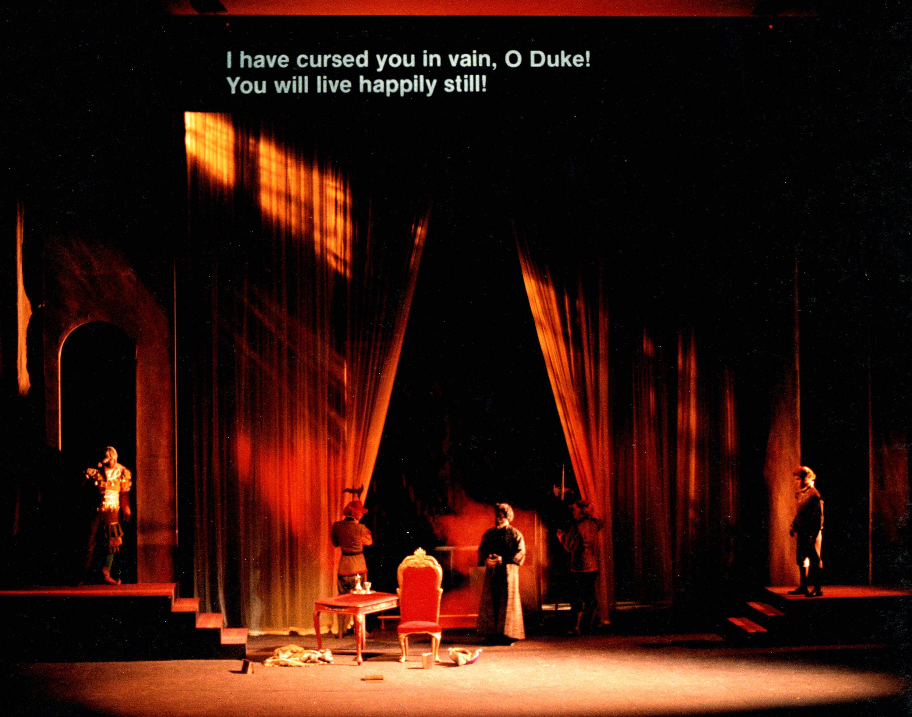 Set Act 2 - Rigoletto by Guiseppe Verdi at the Illinois Opera Theater - Krannert Center for the Performing Arts at University of Illinois (Urbana/Champaign)