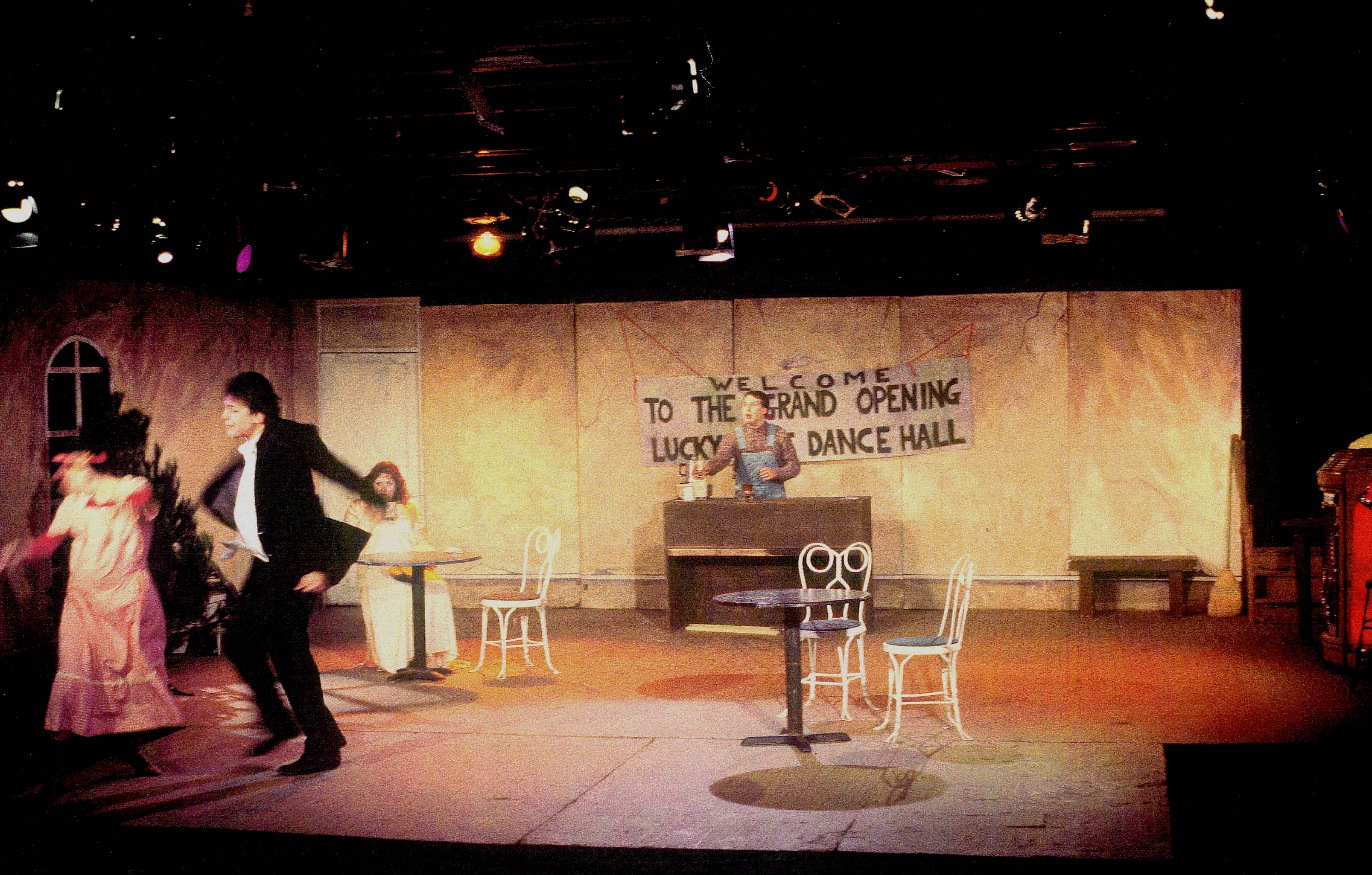 Set - The Lucky Spot by Beth Henley at the Armory theater, Champaign Illinois
