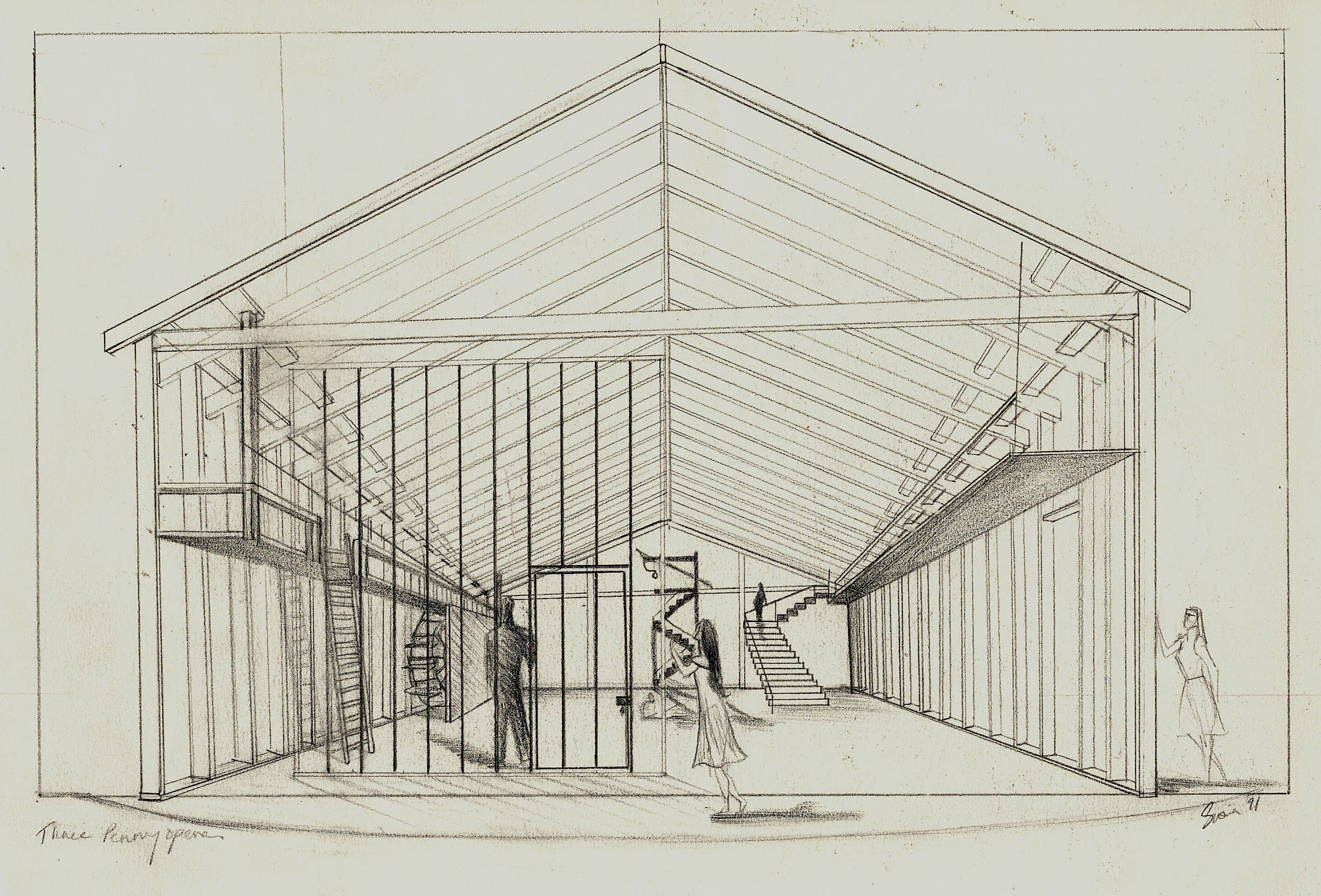 The Three Penny Opera by BertoltBrecht - Model and Set design sketch