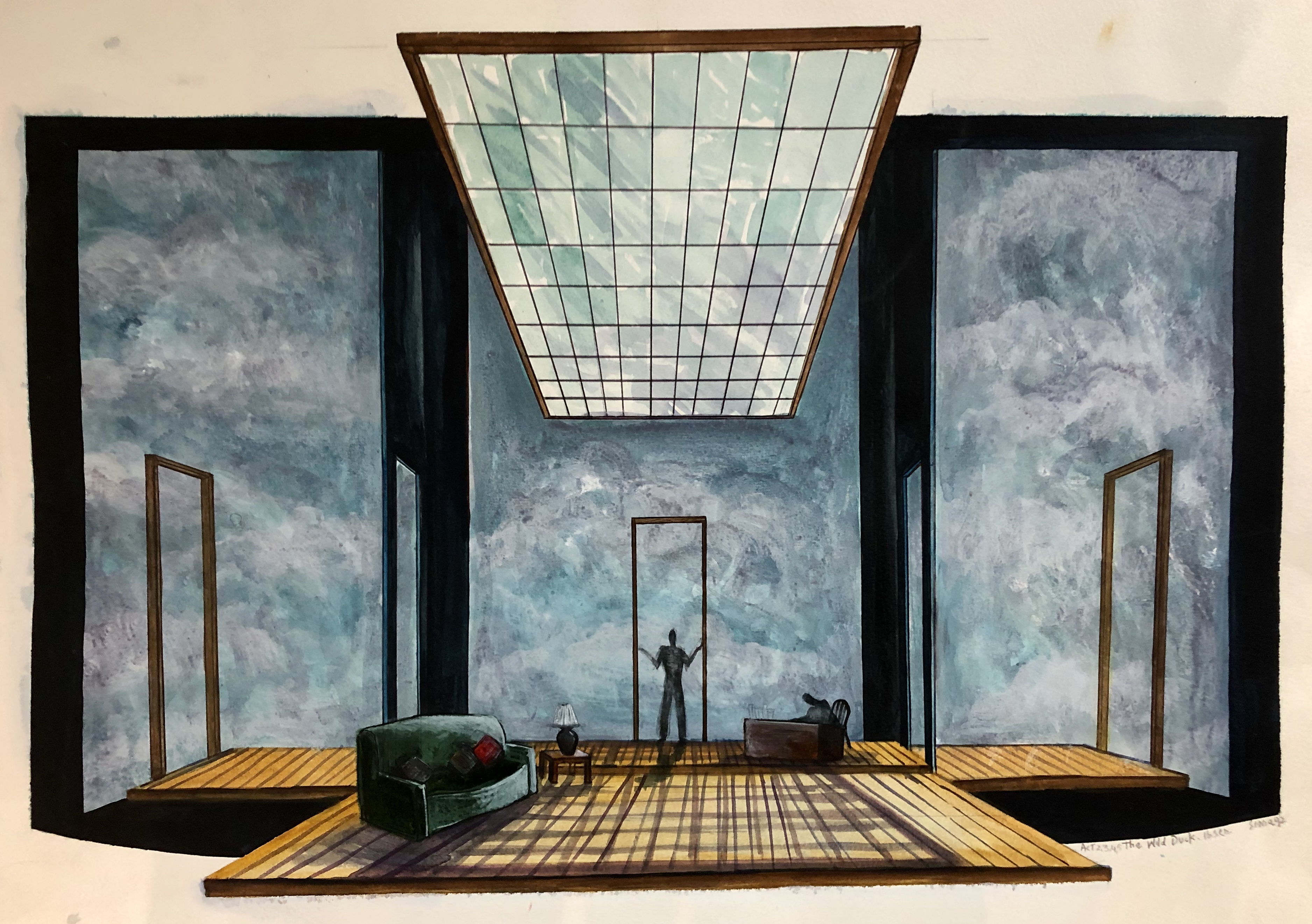 The Wild Duck by Henrik Ibsen - Set design renderings