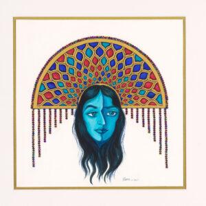 "Persian Blue Introspection - 20""x20"""