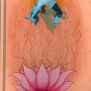 "Fereshtini #8 9"" x 11"" Gouache on museum board 2007 (#3 of 4 in series)"