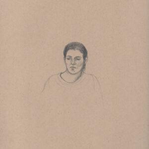"""Exodus portrait #12 Pencil on paper 9"""" x 12"""" 2016-17"""