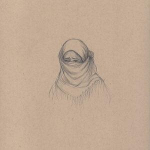 """Exodus portrait #3 Pencil on paper 9"""" x 12"""" 2016-17"""