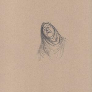 """Exodus portrait #44 Pencil on paper 9"""" x 12"""" 2016-17"""