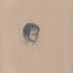 """Exodus portrait #9 Pencil on paper 9"""" x 12"""" 2016-17"""