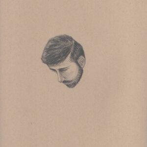 """Exodus Portrait #14 Pencil on paper 9"""" x 12"""" 2016-17"""