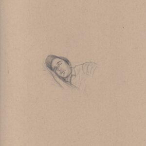 """Exodus portrait #21 Pencil on paper 9"""" x 12"""" 2016-17"""