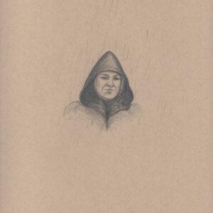 """Exodus portrait #27 Pencil on paper 9"""" x 12"""" 2016-17"""