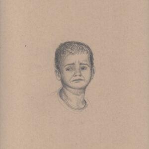 """Exodus portrait #30 Pencil on paper 9"""" x 12"""" 2016-17"""