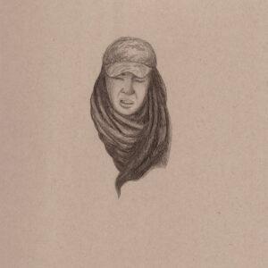 """Exodus portrait #6 Pencil on paper 9"""" x 12"""" 2016-17"""