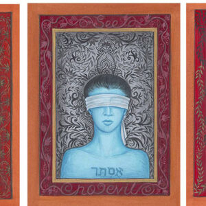 """Finding Home #90, 91, 92 (Fereshteh) Each 6.5"""" x 5"""" Gouache on paper 2006 SOLD AS A TRIPTYCH"""
