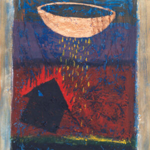 """Finding Home #5 11"""" x 15"""" Gouache on Paper 1997-1998"""