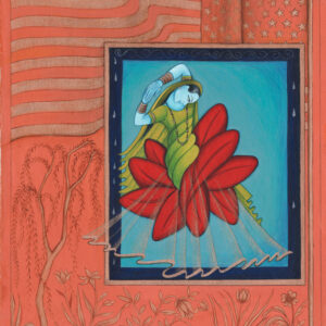 """Finding Home #99 (Fereshteh) """"Lilith in Pardes"""" 11"""" x 8.5"""" Gouache on paper 2008"""