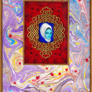 """Exodus #4 16"""" x 10"""" gouache, 22K gold leaf and mixed media on museum board on wood panel 2016"""