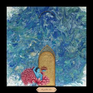 Liberty Series #14 - The Golden Door, 12.5 x 12.5, Siona Benjamin 2018