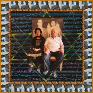 """Fulbright Series #16- Queenie and Ralph Moses Best (Bhastekar) 35"""" x 35"""" Photo-collages with gouache and acrylic paint on Hahnemuhle paper 2012-2013"""