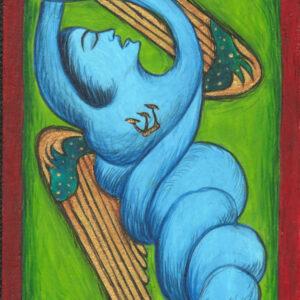 "Fereshtini #3 9"" x 11"" Gouache on museum board 2007"