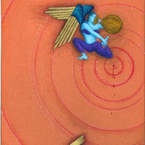 "Fereshtini #6 9"" x 11"" Gouache on museum board 2007 (#1 of 4 in series)"