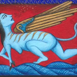 "Fereshtini #4 9"" x 11"" Gouache on museum board 2007 :: SOLD"