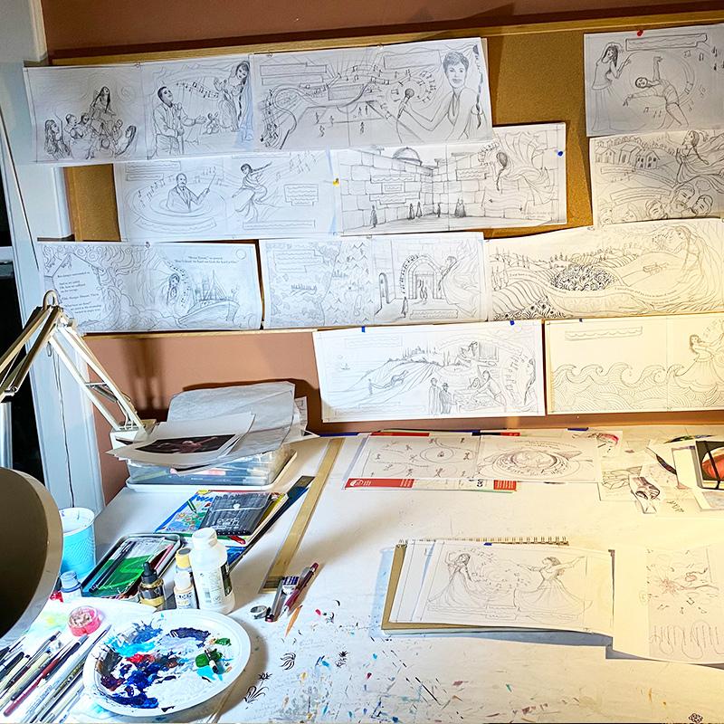 Siona Benjamin's desk